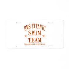 Titanic Swim Team Aluminum License Plate