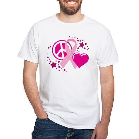 BC-Peace-Love-Cure-blk T-Shirt