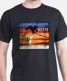Captain Sparrow's Rum Black T-Shirt