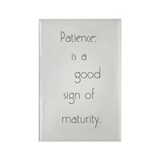 Cute Patience Rectangle Magnet