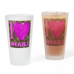 I (Heart) Snails Drinking Glass