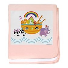 Noahs Ark baby blanket
