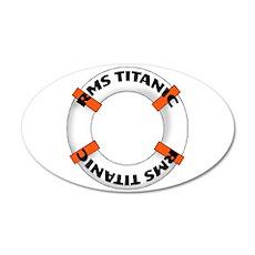 RMS Titanic 22x14 Oval Wall Peel