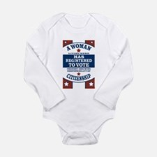 A Woman Votes Long Sleeve Infant Bodysuit