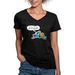 Past Lives Suck Women's V-Neck Dark T-Shirt