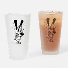 Panic Attack! Black and White Drinking Glass