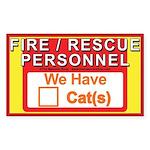 Masonic Pet Safety Sticker (Rectangle)