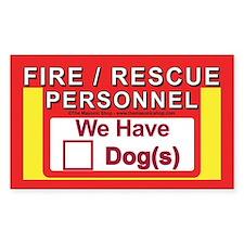 Masonic Dog Safety Decal