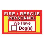 Masonic Dog Safety Sticker (Rectangle)