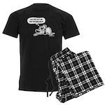 Past Lives Suck - Black and W Men's Dark Pajamas