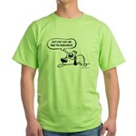 Past Lives Suck - Black and W Green T-Shirt