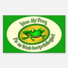 Kiss My Frog... Sticker (Rectangle)
