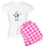 Dare I Look? Black and White Women's Light Pajamas