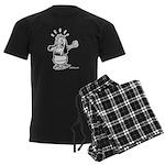 Dare I Look? Black and White Men's Dark Pajamas