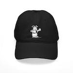 Dare I Look? Black and White Black Cap
