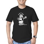 Dare I Look? Black and White Men's Fitted T-Shirt