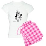 I'm Outta Here! Black and Whi Women's Light Pajama