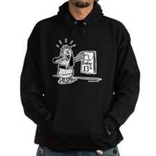 Friday the 13th! Black and Wh Hoodie