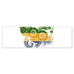 Gabon Flag Sticker (Bumper)
