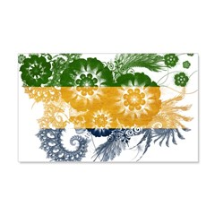 Gabon Flag 22x14 Wall Peel