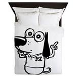 Now What? Black and White Queen Duvet