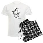 Now What? Black and White Men's Light Pajamas