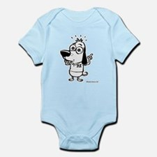 Now What? Black and White Infant Bodysuit