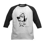 Now What? Black and White Kids Baseball Jersey