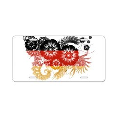 Germany Flag Aluminum License Plate