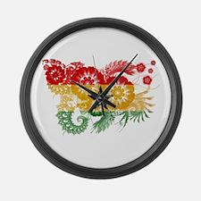 Ghana Flag Large Wall Clock
