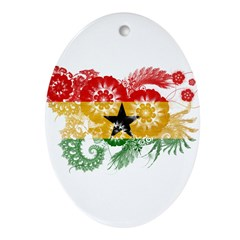Ghana Flag Ornament (Oval)