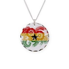 Ghana Flag Necklace