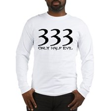 Cute 333 half evil Long Sleeve T-Shirt