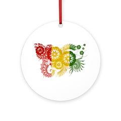 Guinea Flag Ornament (Round)