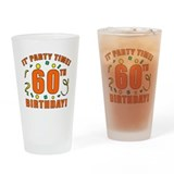 60th birthday Pint Glasses