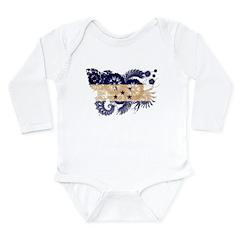 Honduras Flag Long Sleeve Infant Bodysuit