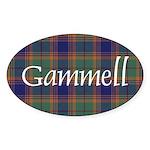 Tartan - Gammell Sticker (Oval)