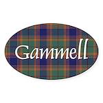 Tartan - Gammell Sticker (Oval 10 pk)