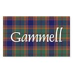 Tartan - Gammell Sticker (Rectangle 10 pk)
