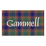 Tartan - Gammell Sticker (Rectangle 50 pk)