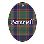 Tartan - Gammell Ornament (Oval)