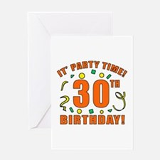 30th Party Time! Greeting Card
