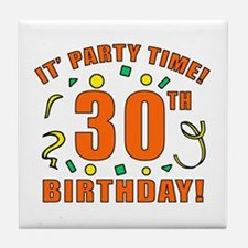 30th Party Time! Tile Coaster