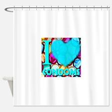 I (Heart) Condoms Shower Curtain