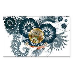Idaho Flag Sticker (Rectangle)