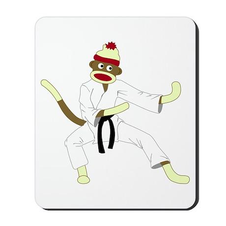 Sock Monkey Karate Mousepad