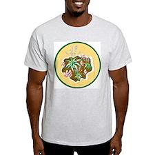 Hosta Garden Art Ash Grey T-Shirt