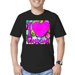 I (Heart) Condoms Men's Fitted T-Shirt (dark)