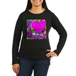 I (Heart) Condoms Women's Long Sleeve Dark T-Shirt