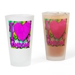 I (Heart) Condoms Drinking Glass